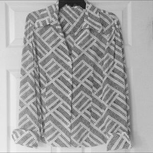 Anne Klein button down blouse